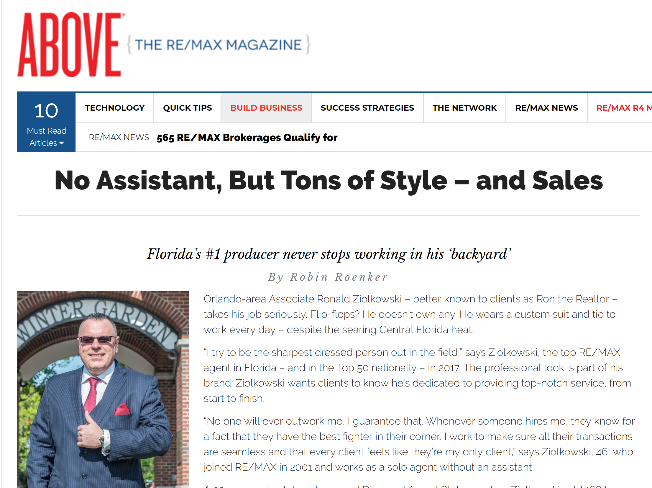 Remax Above Mag: No Assistant, But Tons of Style – and Sales