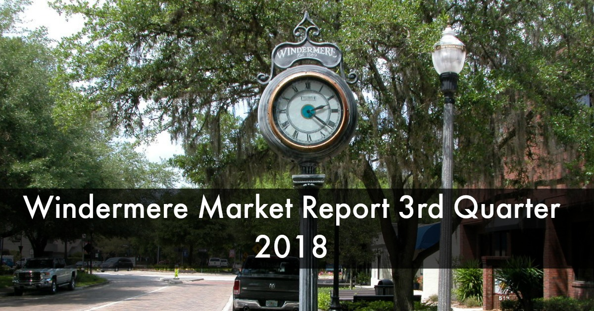 Windermere Real Estate Market Report 3rd Qtr 2018 By Ron