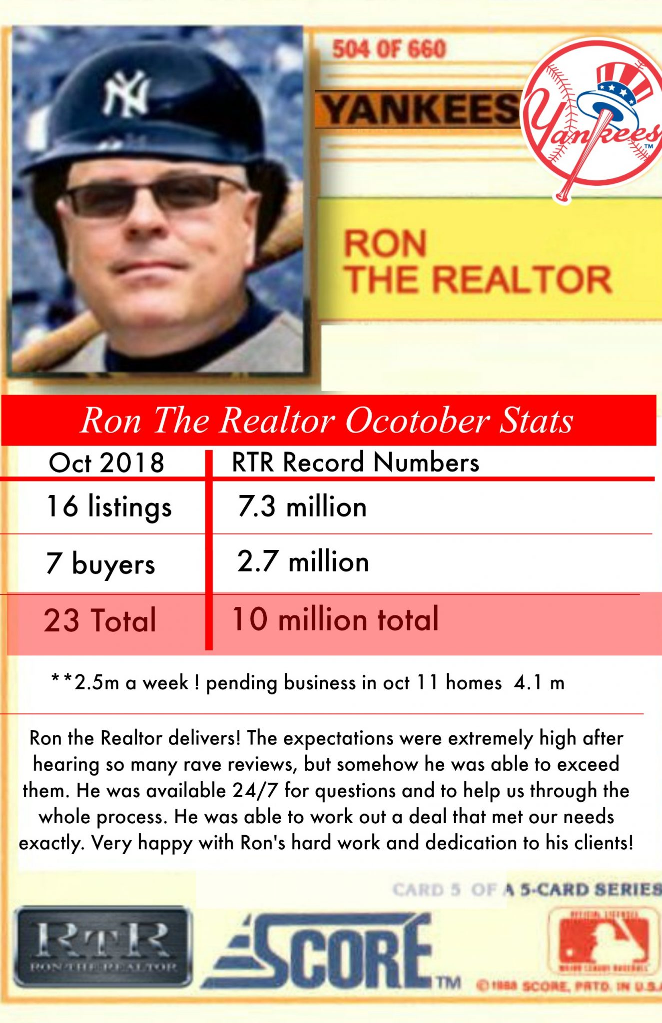 Introducing The NEW Mr. October of Real Estate